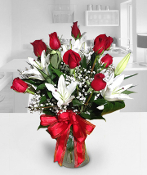 Red Roses & White Lilies