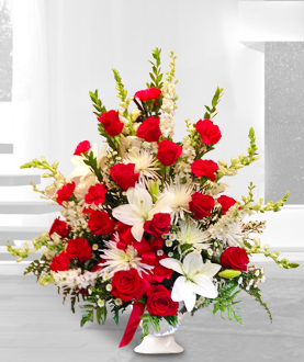 Arrangement Red & White