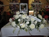 Urn & Picture Arrangement   White